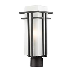Z-Lite Abbey Outdoor Post Light - Rubbed Bronze - 6.62-in x 17.25-in