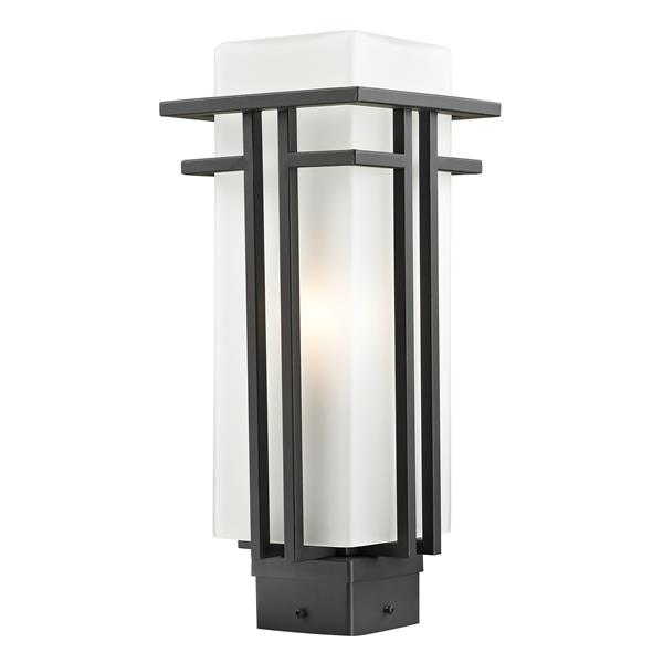 Z-Lite Abbey Outdoor Post Light in Outdoor Rubbed Bronze
