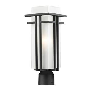 Z-Lite Abbey Outdoor Post Light - Black - 6.63-in x 17.25-in