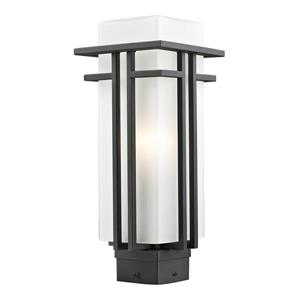 Z-Lite Abbey Outdoor Post Light - Black - 6.63-in x 15.75-in