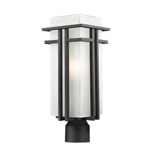 Z-Lite Abbey Outdoor Post Light - Black - 7.75-in x 19.62-in