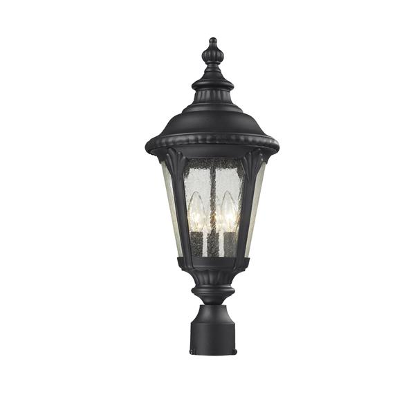Z-Lite Medow Outdoor Post Light - Black - 9.75-in x 24.75-in