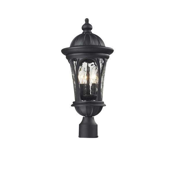 Z-Lite Doma Outdoor Post Light - Black - 9-in x 20.25-in