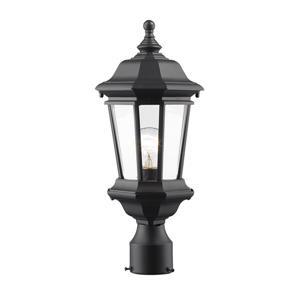 Melbourne Outdoor Post Mount Light - Black - 7.25