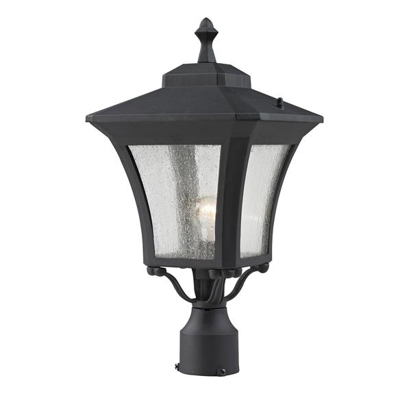 Z-Lite Waterdown Outdoor Post Light - Sand Black - 10.12-in x 19-in