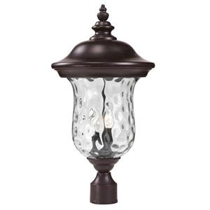 Z-Lite Armstrong Outdoor Post Light - Bronze - 10-in x 21-in