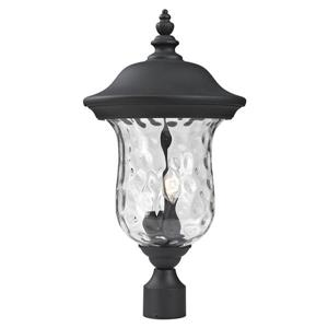 Z-Lite Armstrong Outdoor Post Light - Black - 12.38-in x 23.5-in