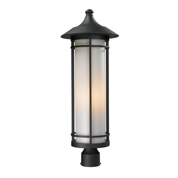 Z-Lite Woodland Outdoor Post Light - Black - 10-in x 28-in