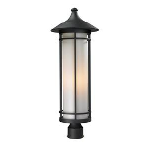 Z-Lite Woodland Outdoor Post Light - Black - 10-in x 28-in