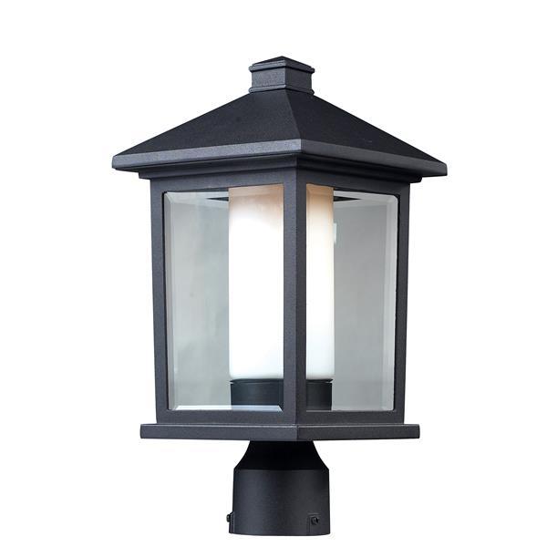Z-Lite Mesa Outdoor Post Light - Black - 8-in x 16-in