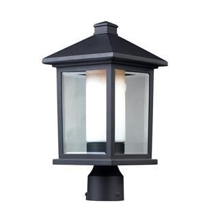 """Luminaire extérieur pour poteau Mesa, Noir, 8""""x16"""""""
