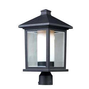 """Luminaire extérieur pour poteau Mesa, Noir, 9.5""""x18.5"""""""