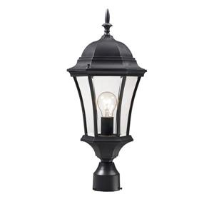 Z-Lite Wakefield Outdoor Post Light - 1 Light - Black - 9.5-in x 22-in