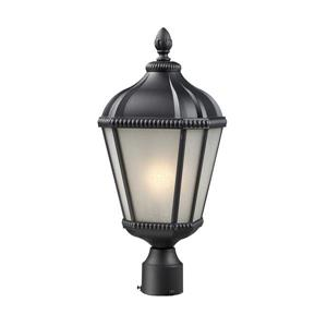 Z-Lite Waverly Outdoor Post Light - Black - 9-in x  23.25-in