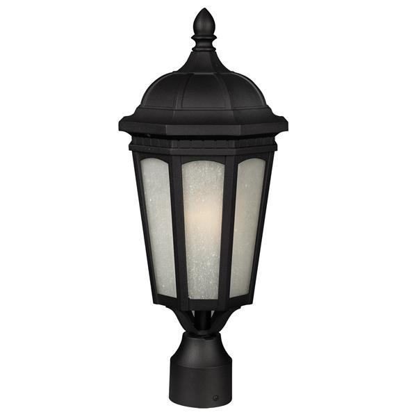 """Luminaire pour poteau extérieur Newport, Noir, 8.25""""x19.62"""""""