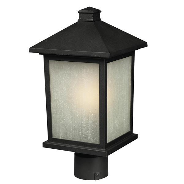 """Luminaire pour poteau extérieur Holbrook, Noir, 9.5""""x18.5"""""""