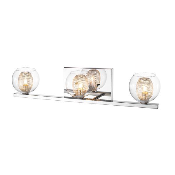 Z-Lite Auge 3-Light Chrome Vanity Light