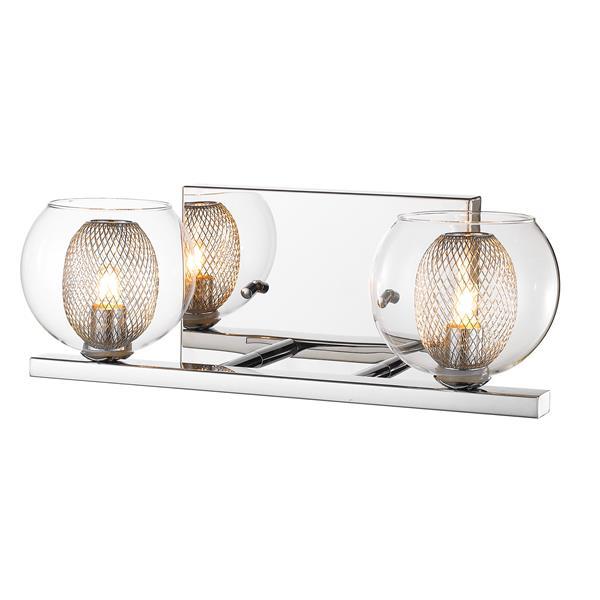 Z-Lite Auge 2-Light Chrome Vanity Light