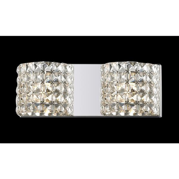 Z-Lite Panache 3.54-in x 5.11-in 2-Light Crystal LED Vanity Light