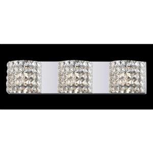 Z-Lite Panache 3.54-in x 5.11-in 3-Light Chrome Crystal Vanity Light