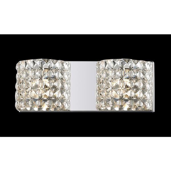 Z-Lite Panache 3.54-in x 5.11-in 2-Light Chrome Crystal Vanity Light