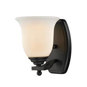 Luminaire pour vanité, 1 lumière, noir mat
