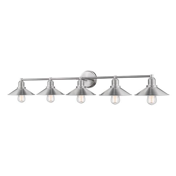 Z-Lite Casa Brushed Nickel 5-Light Bathroom Vanity Light