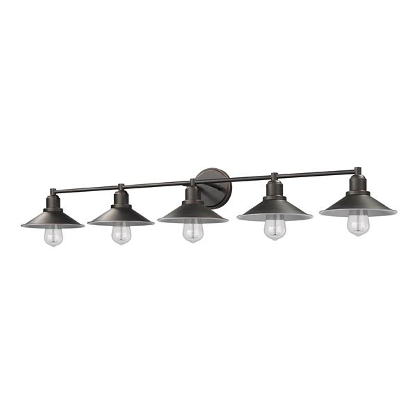 Z-Lite Casa Antique Bronze 5-Light Bathroom Vanity Light