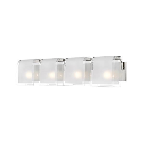 Applique à 4 lumières pour salle de bain, Zephyr