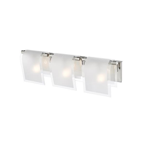 Z-Lite Zephyr Brushed Nickel 3 Light Vanity Light