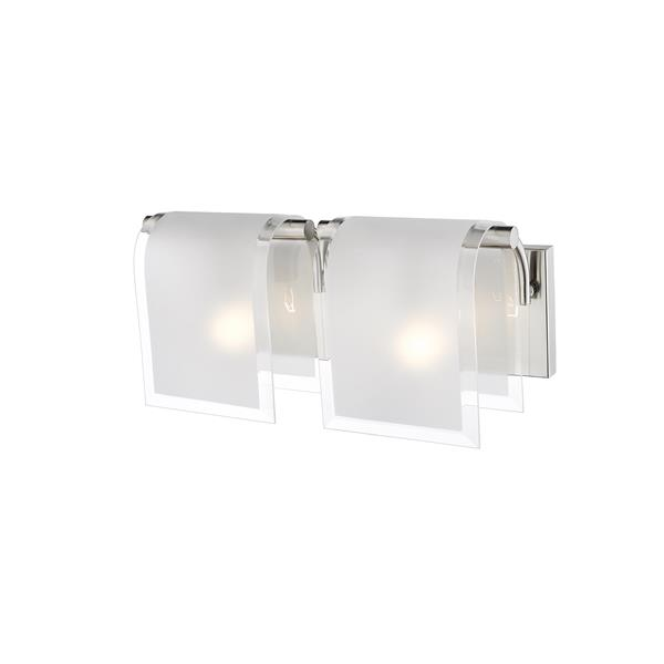 Z-Lite Zephyr Brushed Nickel 2 Light Vanity Light