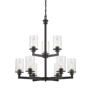 Z-Lite Savannah Bronze 9-Light Chandelier