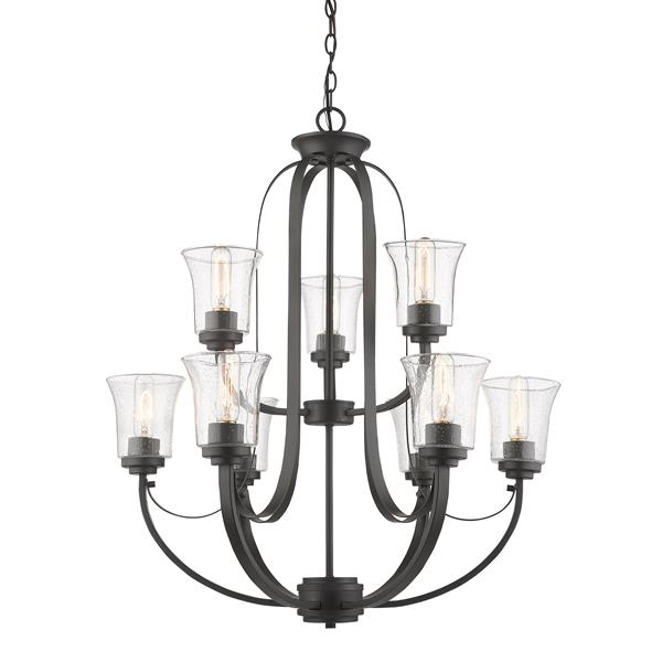 Z-Lite Halliwell Bronze 9-Light Chandelier