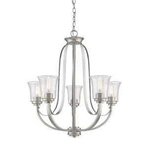 Z-Lite Halliwell Brushed Nickel 5-Light Chandelier