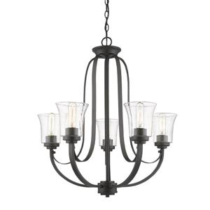 Z-Lite Halliwell Bronze 5-Light Chandelier