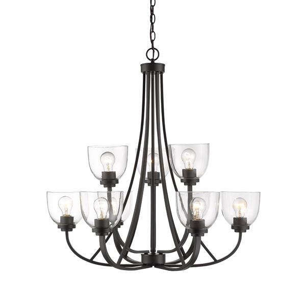 Z-Lite Ashton 9-Light Chandelier - Bronze 31-in