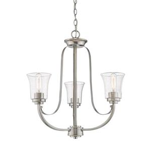 Z-Lite Halliwell Brushed Nickel 3-Light Chandelier