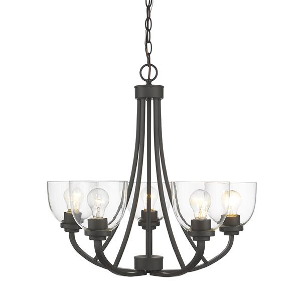 Z-Lite Ashton 5-Light 25-in Bronze Chandelier