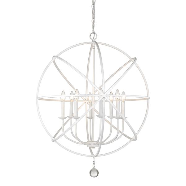 Z-Lite Tull 30-in Matte White 8-Light Chandelier