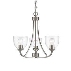 Z-Lite Ashton 3-Light Brushed Nickel Chandelier