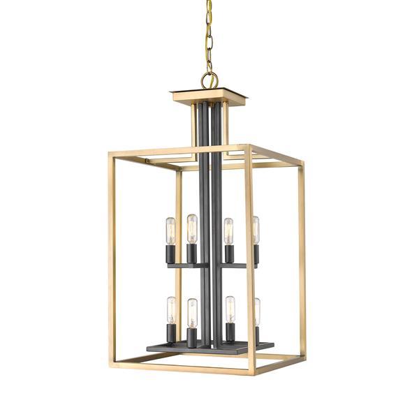 Z-Lite Quadra 8-Light Antique Brass-Bronze Chandelier