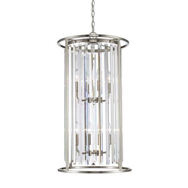 Z-Lite Monarch 8-Light Brushed Nickel Chandelier