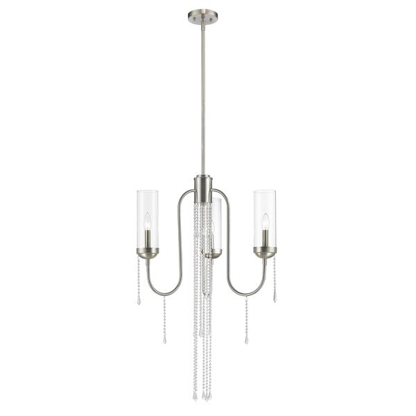 Z-Lite Siena Brushed Nickel 3-Light Chandelier