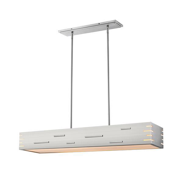 Z-Lite Loek Brushed Nickel 2-Light LED chandelier
