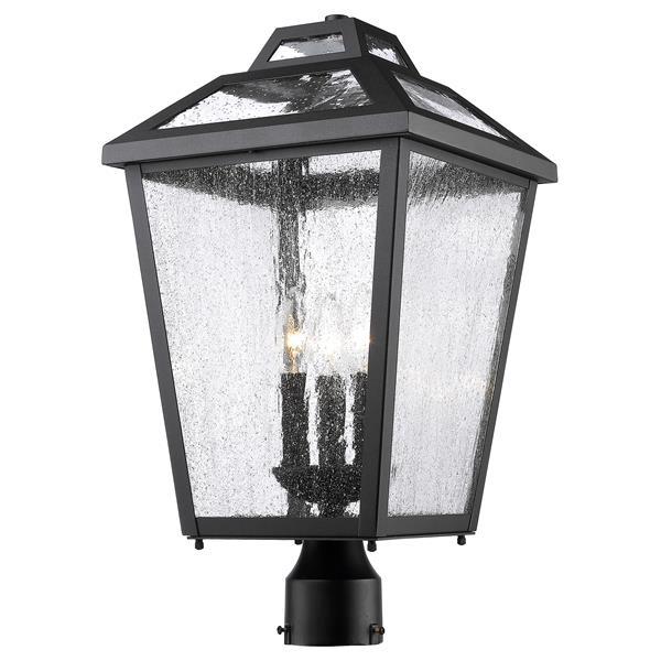 Z-Lite Bayland 3-Light Outdoor Post Mount Light - Black