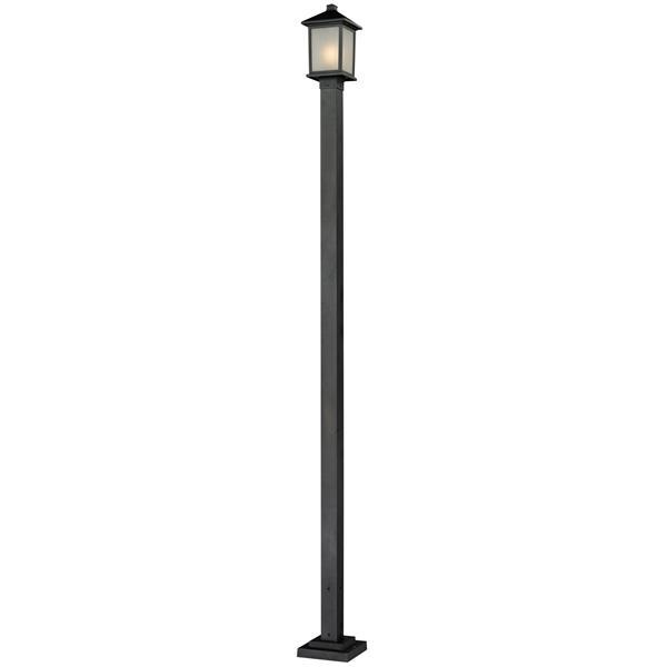 Luminaire extérieur sur poteau Holbrook, noir