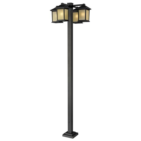 Z-Lite Holbrook 4-Head Outdoor Post - Oil Rubbed Bronze
