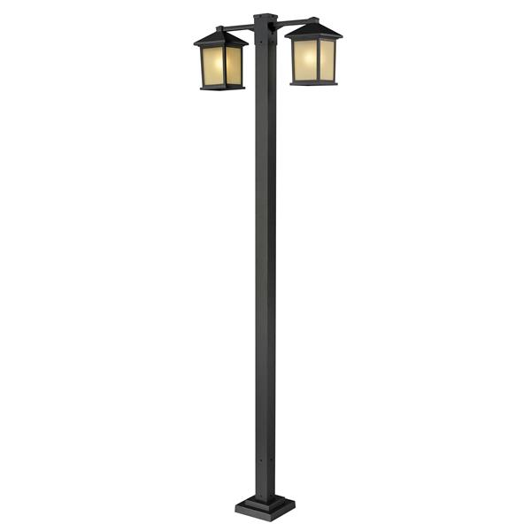 Z-Lite Holbrook 2-Head Outdoor Post - Oil Rubbed Bronze