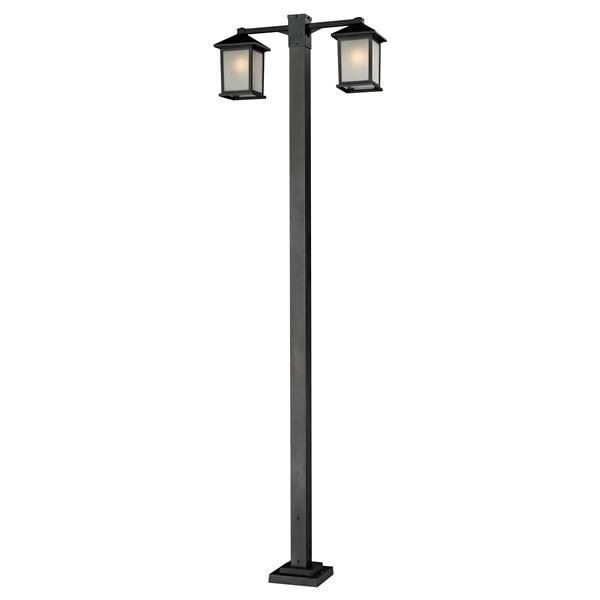Z-Lite Holbrook 2-Head Outdoor Post - Black