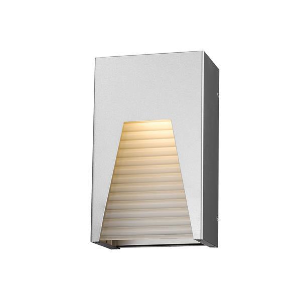 Z-Lite Millenial 10.00-In x 6.00-In Silver Outdoor Wall Light